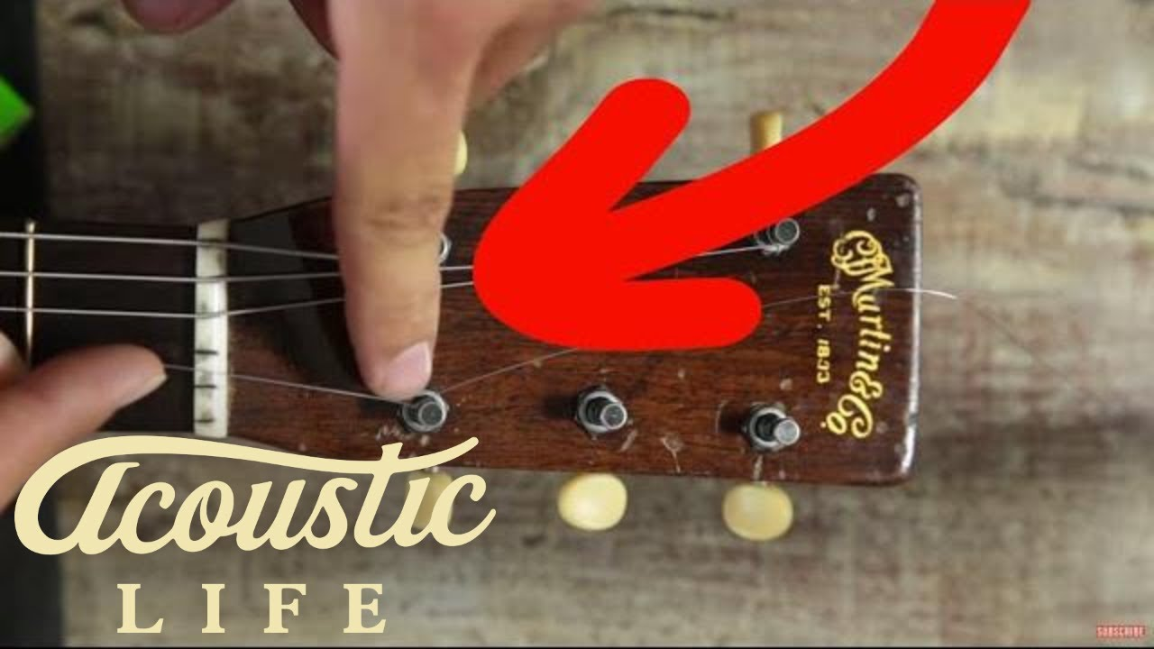 the best way to change acoustic guitar strings youtube. Black Bedroom Furniture Sets. Home Design Ideas