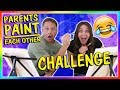 PARENTS PAINT EACH OTHER CHALLENGE | We Are The Davises の動画、YouTube動画。