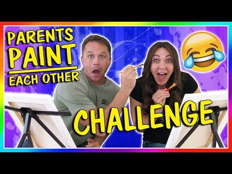 PARENTS PAINT EACH OTHER CHALLENGE | We Are The Davises