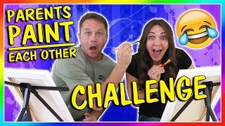 PARENTS PAINT EACH OTHER CHALLENGE | We Are The Davises