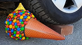 Crushing Crunchy & Soft Things by Car! EXPERIMENT CAR VS M&ampM ICECREAM TOY (Compilation)