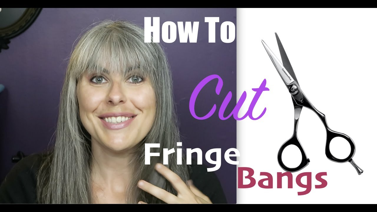 how to cut fringe bangs diy small forehead
