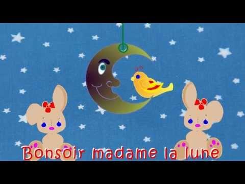 """""""Bonsoir madame la lune"""" -  Comptines et chansons animées pour enfants"""