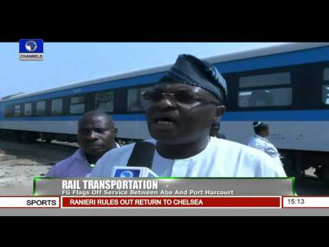 News Across Nigeria: FG Flags Off Rail Transpotation Between Aba And Port Harcourt 18/12/15