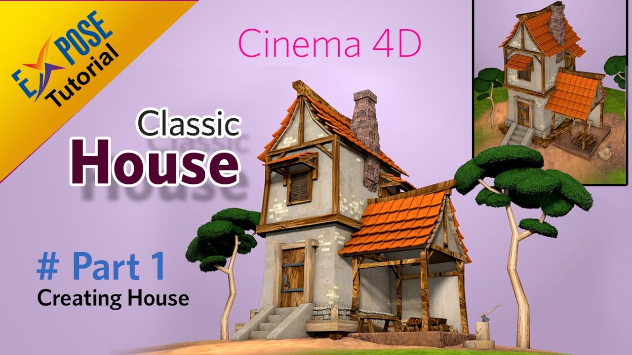 cinema 4d tutorial classic house part 1 creating house