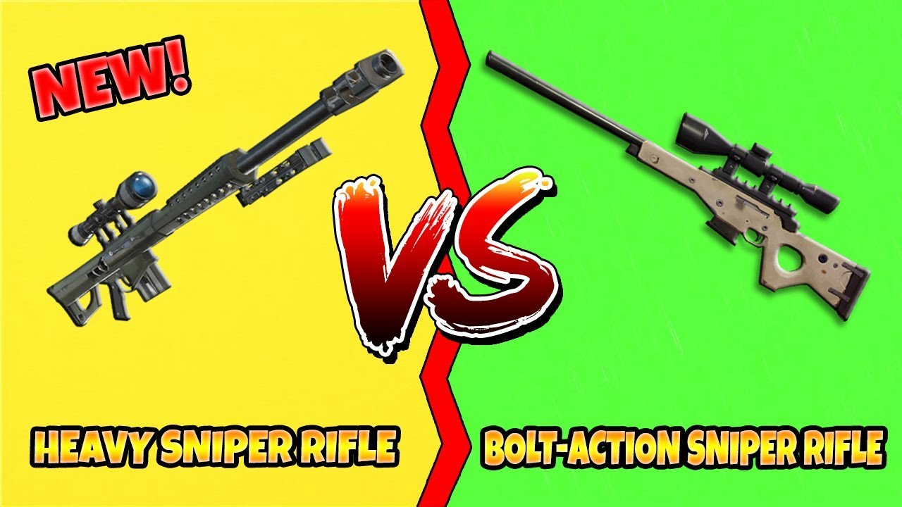 Fortnite New Heavy Sniper Rifle Vs Bolt Action Sniper Rifle What S