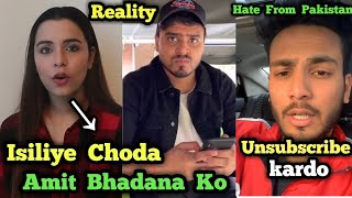 Amit Bhadana & Chitranshi Dhyani Fight ? Reality | Elvish Yadav Reply to Pakistani Haters