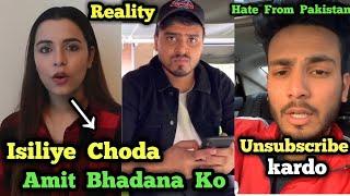 Amit Bhadana & Chitranshi Dhyani Fight ? Reality   Elvish Yadav Reply to Pakistani Haters