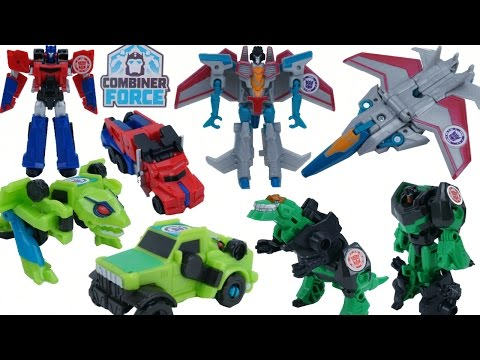 NEW WAVE 1 COMBINER FORCE TRANSFORMERS ROBOTS IN DISGUISE STARSCREAM SPRINGLOAD OPTIMUS GRIMLOCK