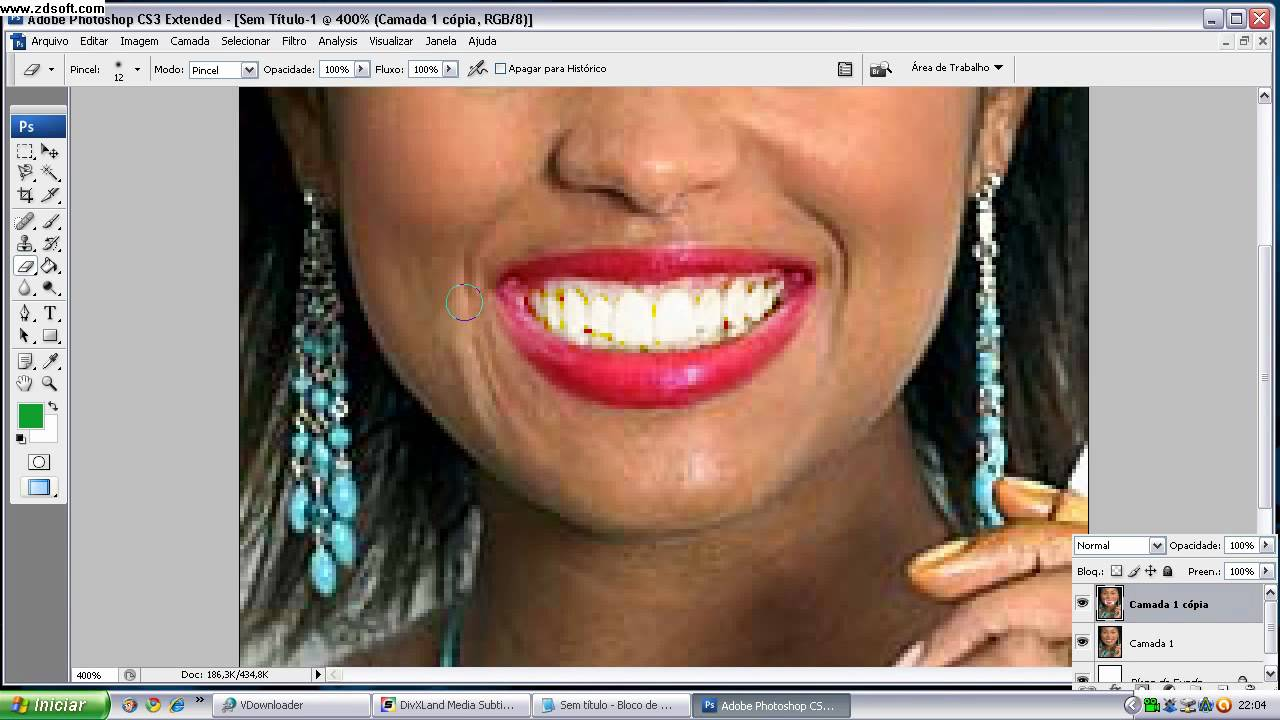 Video Aula Photoshop Como Deixar Dentes Brancos Youtube
