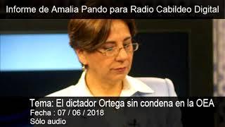 Amalia en directo| El dictador Ortega sin condena en la OEA