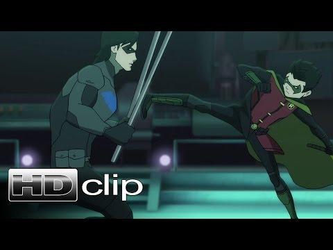 BATMAN Vs ROBIN - Robin Vs Nightwing Clip - Official (2015) [HD]