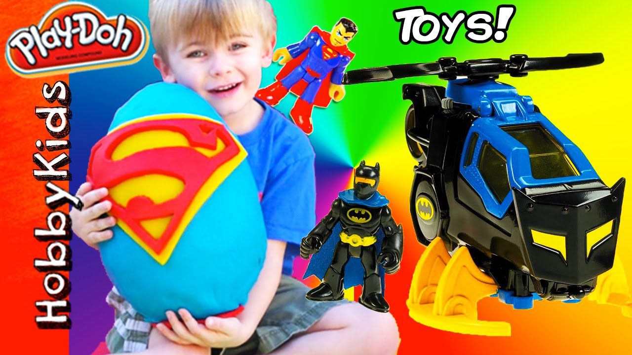 Eggs Building Toys For Boys : Giant superman surprise egg batman toys superhero