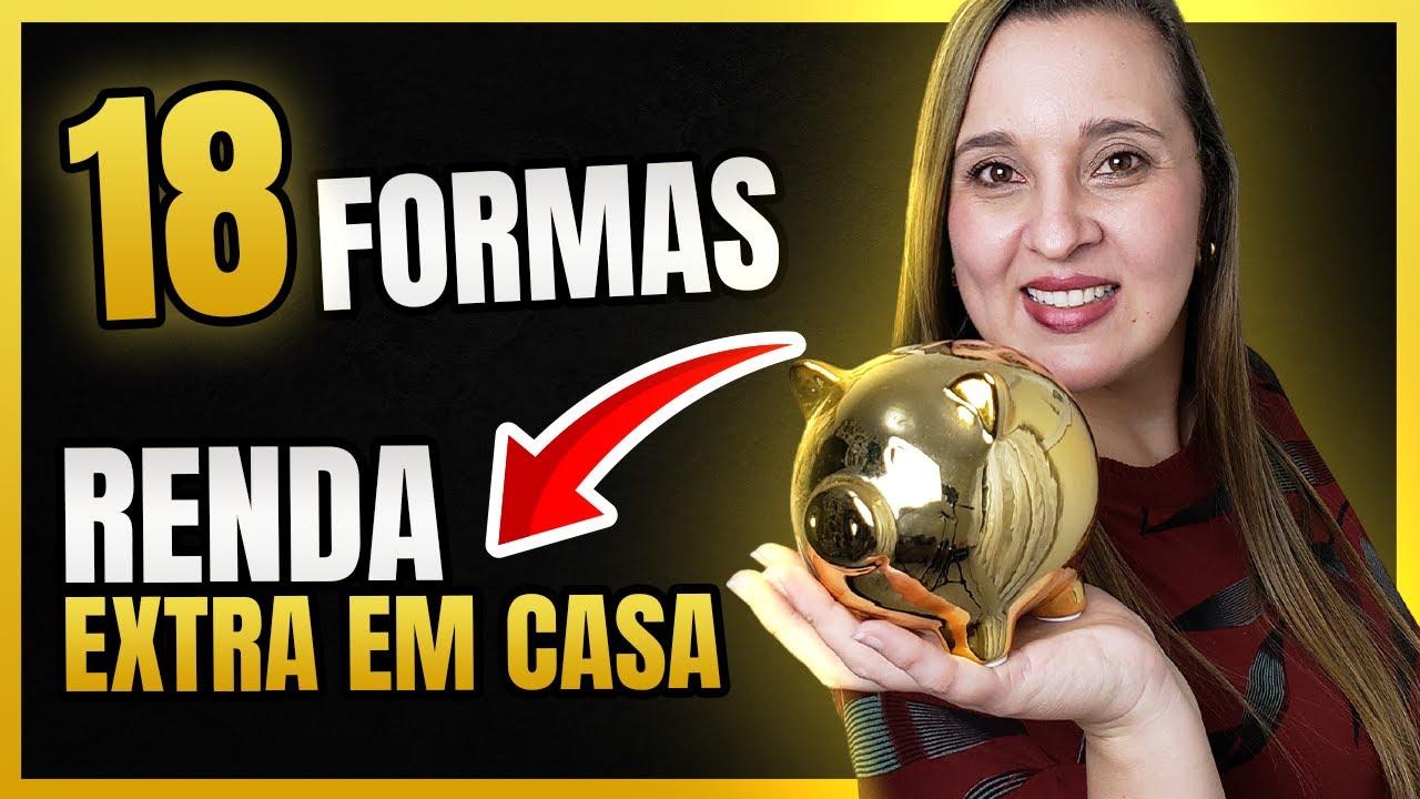 18 MELHORES Formas de Ganhar DINHEIRO EXTRA Trabalhando em Casa [Ideias de Renda Extra]-Mafalda Melo