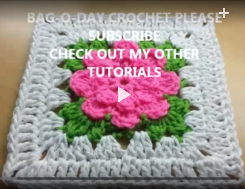 Crochet How To Crochet Rose Granny Square Tutorial 239 Learn
