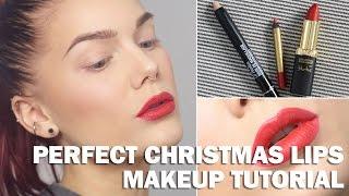 Perfect Christmas Lips (with subs) - Linda Hallberg Makeup Tutorials Thumbnail