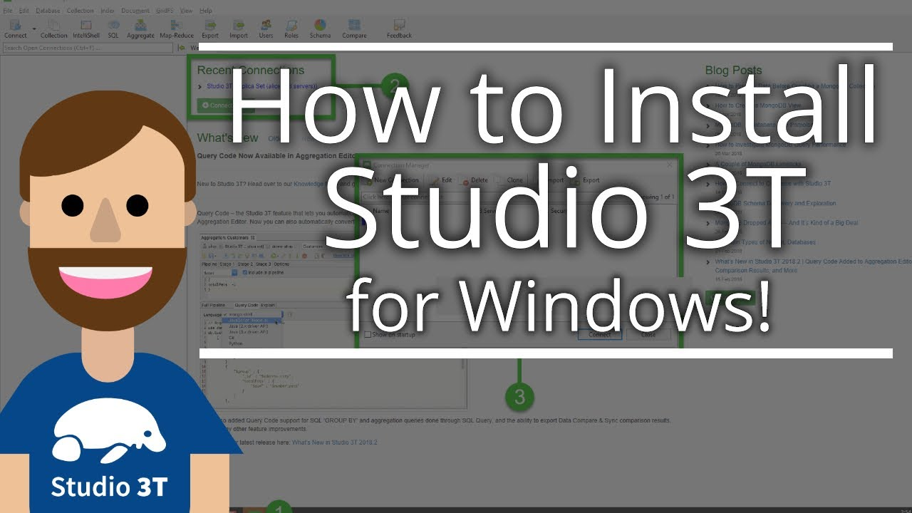 How to Install Studio 3T for MongoDB on Windows, macOS and Linux