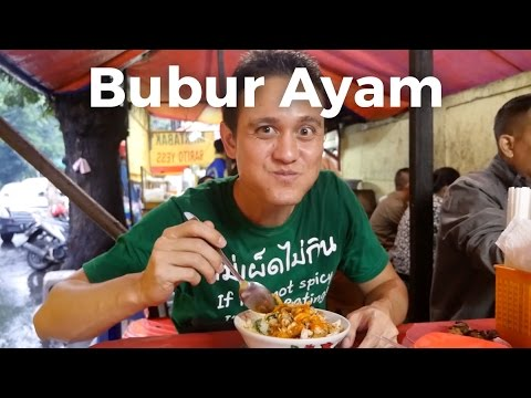 Bubur Ayam Barito: Chicken Rice Porridge in Jakarta