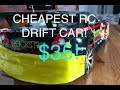 RC Drift Car CHEAPEST 1:10 SCALE $35 REVIEW