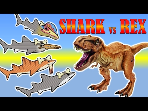 T REX GAMES FOR KIDS: LA Rex +Prehistoric Shark |Newbie Gaming