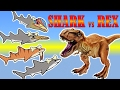 T REX GAMES FOR KIDS: LA Rex +Prehistoric Shark |Newbie Gaming
