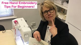 Free Machine Embroidery Tips For Beginners!