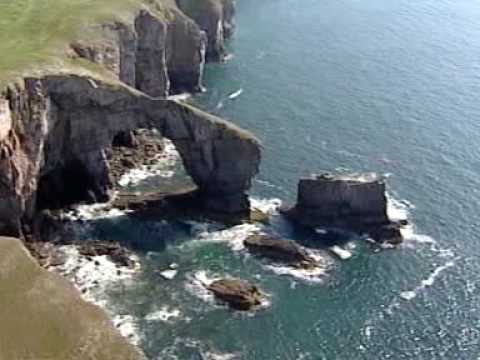 West Wales-Sea arches & Stacks - YouTube