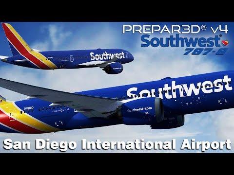 PR3DV4 3] Southwest Airlines FICTIONAL 787-8 Approach to San