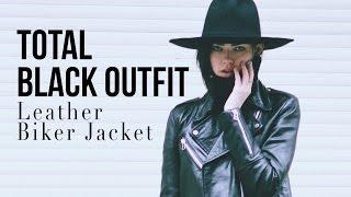 Total BLACK OUTFIT| Leather Biker Jacket