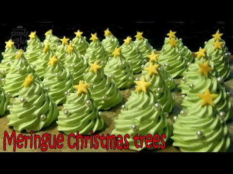How To Make Meringue Christmas Trees