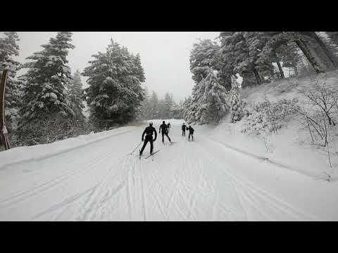 Video of Bogus Basin Development Nordic Team while skiing bogus basin 12_2_2018 Joe Page