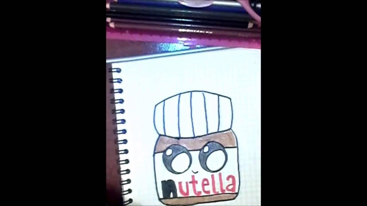 Dibujando Nutella Kawaii De 365 Bocetos Youtube