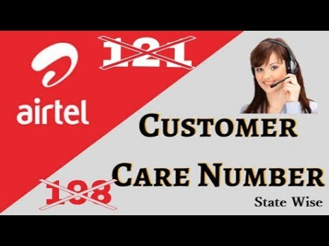 Airtel Customer care Number.. Any time contact airtel Customer care