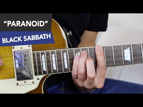 Paranoid Guitar Lesson - Black Sabbath Tutorial