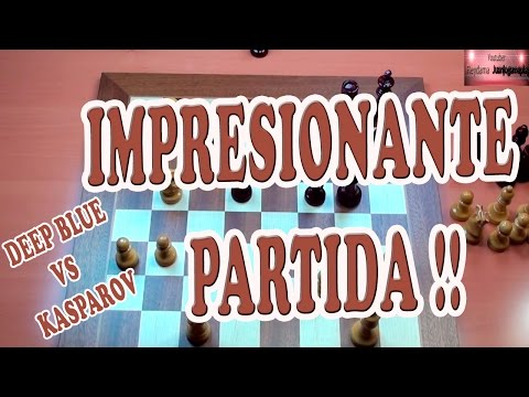 IMPRESIONANTE PARTIDA DEEP BLUE VS KASPAROV 1ºpartida 1996, ajedrez, chess