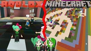Roblox VS Minecraft❎Color Craze VS Block Party, SallyGreenGamer Geegee92 Rocraft vs Mineblox