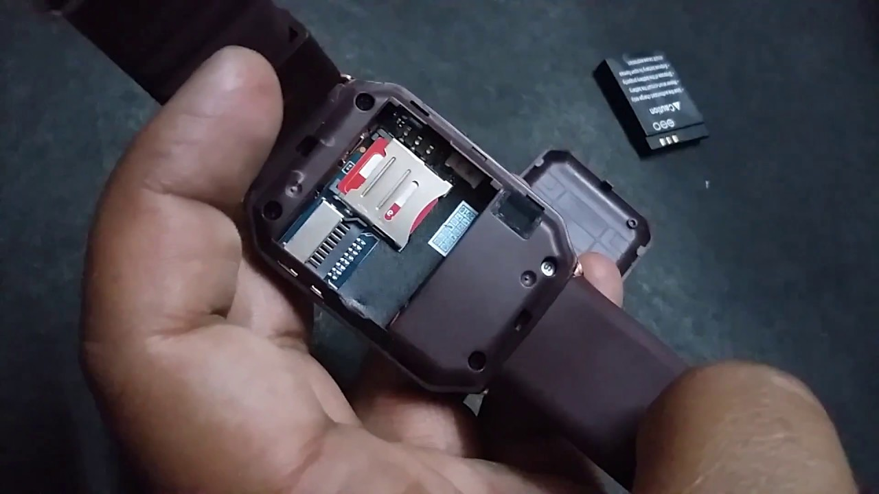smartwatch sim karte how to put sim card and memory card in smartwatch(in hindi)   YouTube