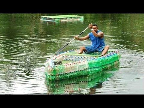 Plastic bottle boat █▬█ █ ▀█▀ Soda water bottles