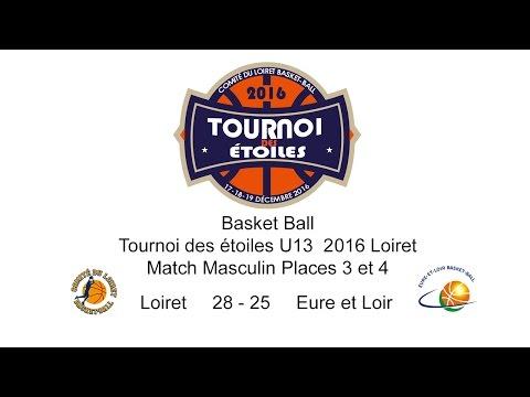 8-Basket TDE 2016 U13M Places 3 et 4 M39 Loiret 28 - 25 Eure et Loir
