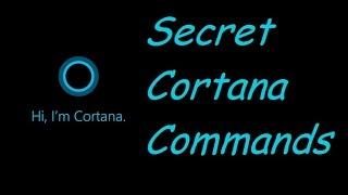 Secret cortana commands