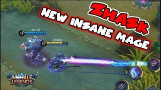 Video NEW HERO ZHASK | 4 SKILLS!  INSANE DAMAGE MAGE | Mobile Legends Update download MP3, 3GP, MP4, WEBM, AVI, FLV November 2017
