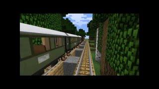 Minecraft: Train trip (Using train mod)