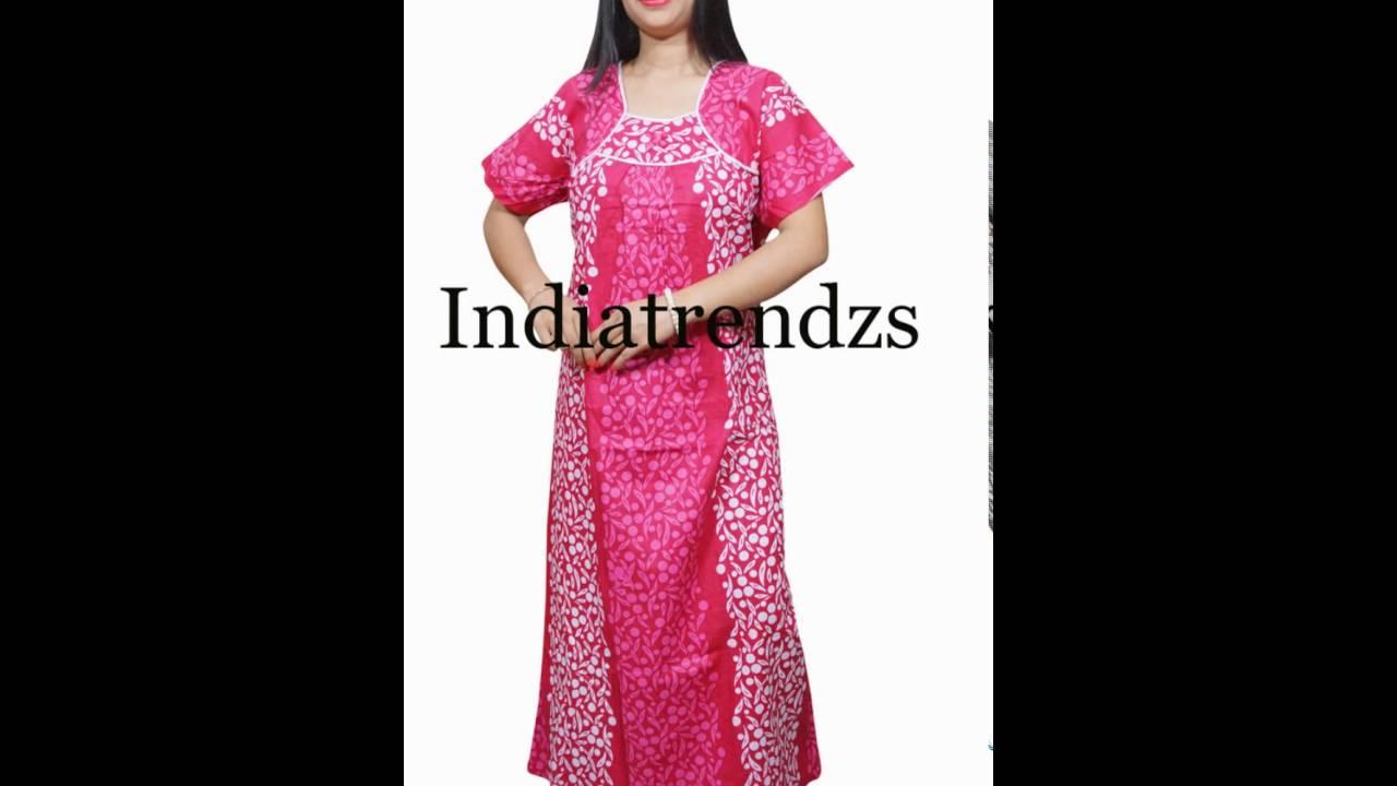 women s Nightwear gown with comfort - YouTube b867d95c8