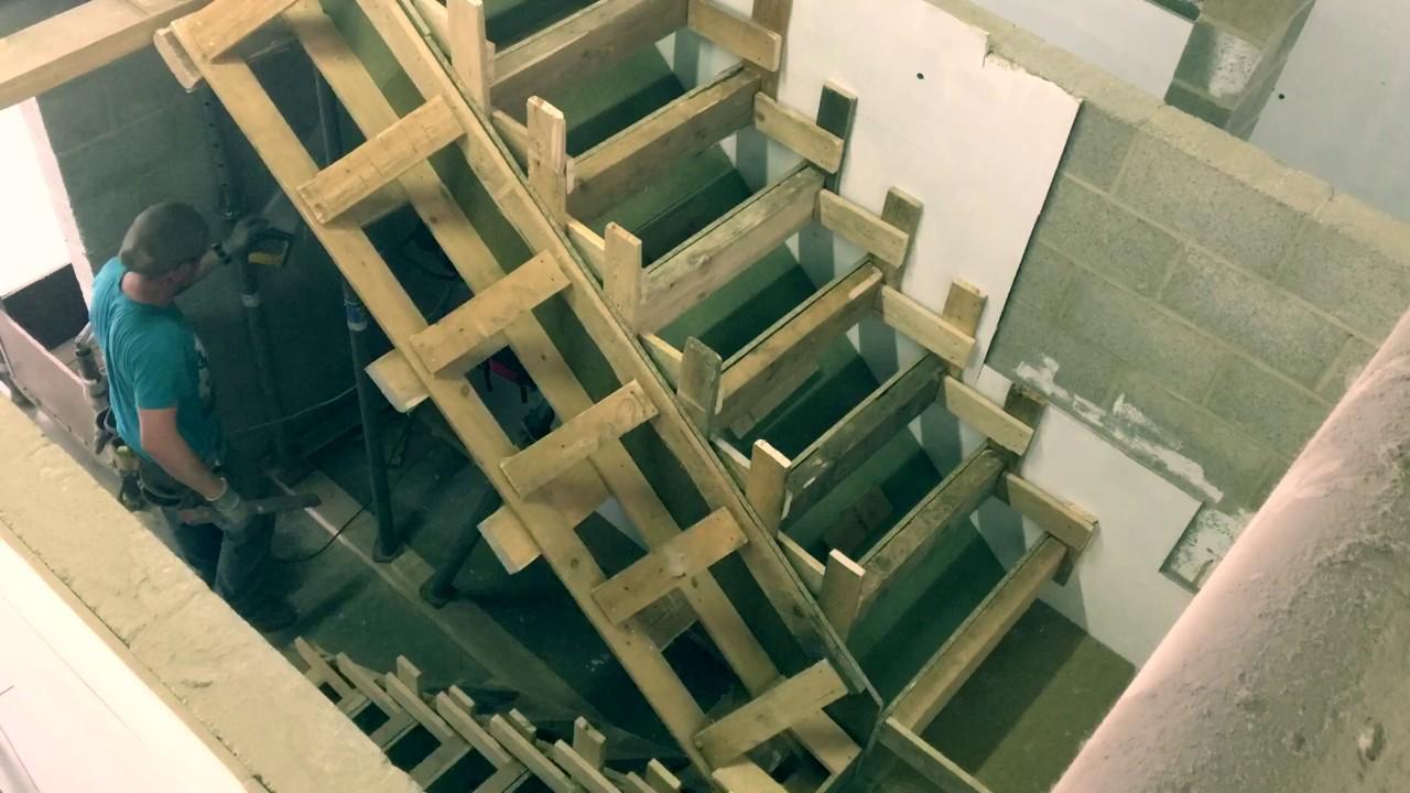 Coffrages D Un Escalier Double