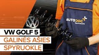 Kaip pakeisti Spyruoklės VW GOLF V (1K1) - internetinis nemokamas vaizdo
