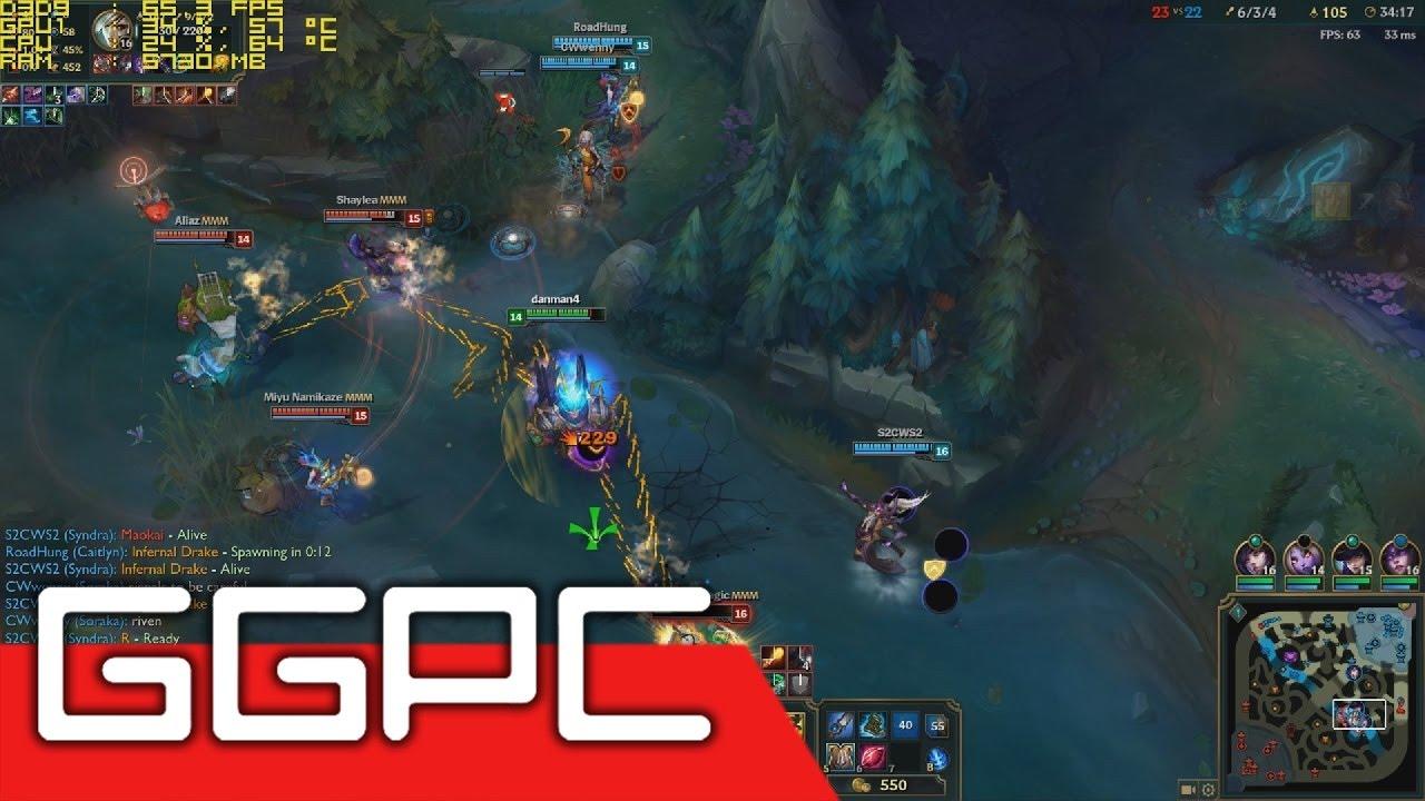 League of Legends GTX 1050 Laptop Gameplay FPS Test