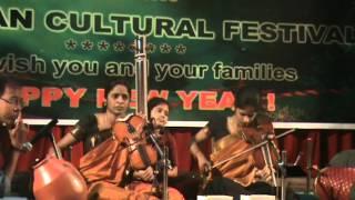 Akkarai Sisters Violin Duet - Abheri (Ragam Alapana) - Russian Cultural Festival Dec 2011