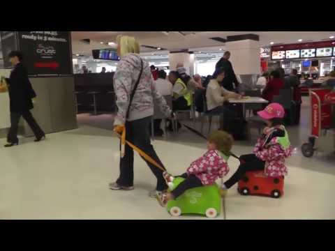 Kids Riding Trunkis At Sydney Airport