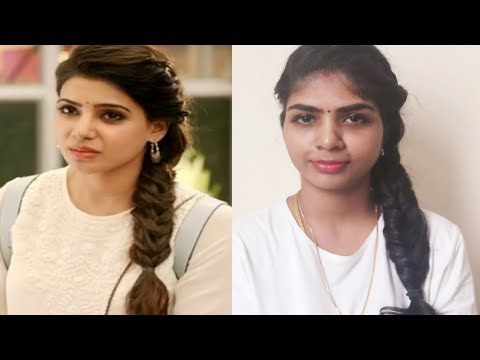 69adf739a1f33c samantha coiffure in 24 movie  fish tail braid in tamil  coiffure tutorial  2019   Tamil youtuber