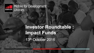 Investor Roundtable Webinar Series: Impact Funds